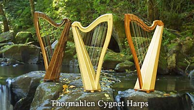 Three Cygnet model Thormahlen harps