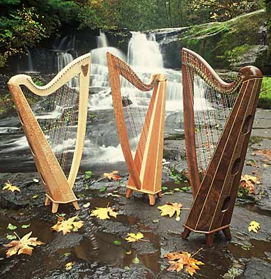 Three Thormahlen harps